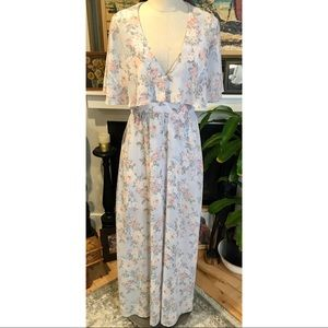 Anthropologie WAYF Long Feminine Floral Maxi Dress